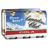 Canadian Club & Cola 6x375ml