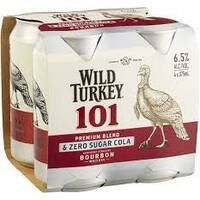 WILD TURKEY 101&C ZERO 4x375ML